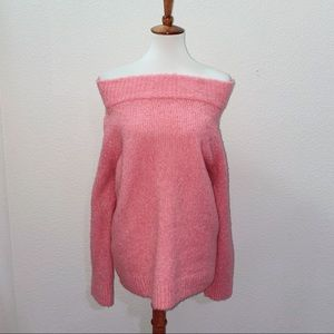 Anthro Moth Off the Shoulder Sweater Size Large